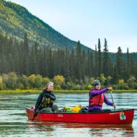 The gentle flow of the Yukon River is perfect for beginners