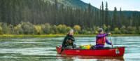 Le faible débit du fleuve Yukon convient aux pagayeurs de tous niveaux