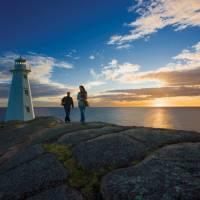 Sunrise at Cape Spear Lighthouse National Historic Site | ©Barrett & MacKay Photo