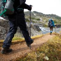 Retracing the steps of the Stampeders route over the Chilkoot Pass. | Mark Daffey