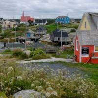 Colourful Peggy's Cove, Nova Scotia