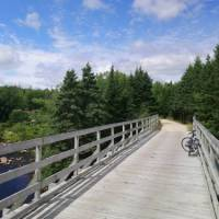 Bridge crossing on the Rum Runners Trail, NS